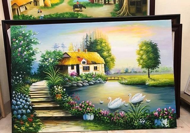 Tranh thêu nghệ thuật - gửi tranh đi Đài Loan